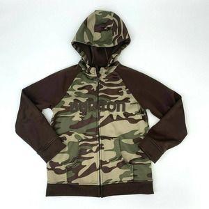 Burton Camouflage Sweater Dry Ride Full Zip Hoodie